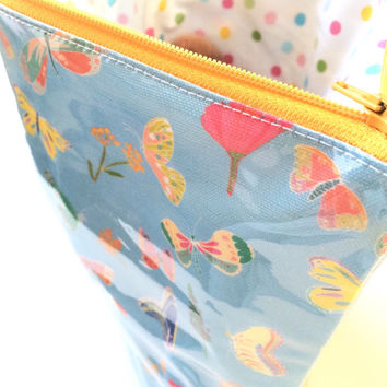 Butterflies Flat Bottom Pouch Medium (handmade philosophy's pattern)