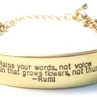 Raise Your Words Rumi Conflict Bracelet