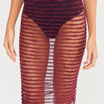Ecote Striped Banded Mesh Skirt | Urban Outfitters