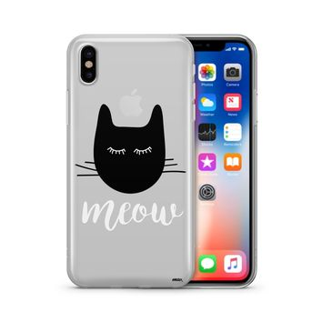 Meow - Clear Case Cover Phone Case