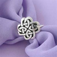 Silver Scarf Ring: Celtic Jewelry