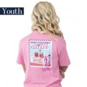"Youth Simply Southern ""Preppy Peach"" Short Sleeve Tee"