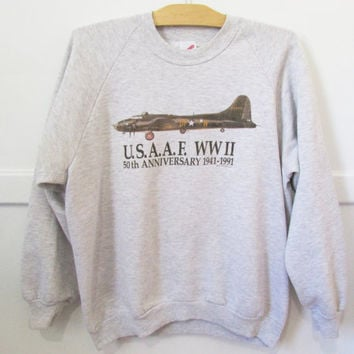 WWII Memorial Sweatshirt Vintage 90s XL