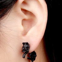 Black Fox Through and Through Single Earring
