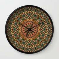 South of the Border Wall Clock by Lyle Hatch | Society6