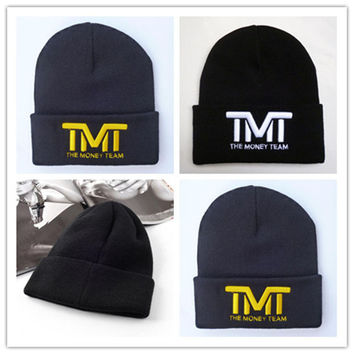 2016 high quality Fashion Korean TMT Beanies beanie Knitted Cap for Men Women Hat Beckham Hip Hop Cap Skullies free sipping