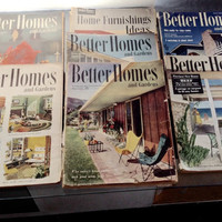 Lot 7 Better homes and Gardens 50s Decorating Magazine Atomic Decor 50s Pink Bathroom Pink Kitchen Eames Era Decor Mid Century