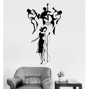 Vinyl Wall Decal Jazz Band Music Art Musical Decoration Stickers Unique Gift (ig4025)