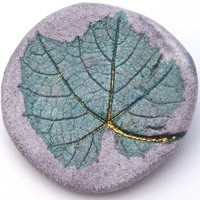 Grape Leaf Brooch - Handcrafted