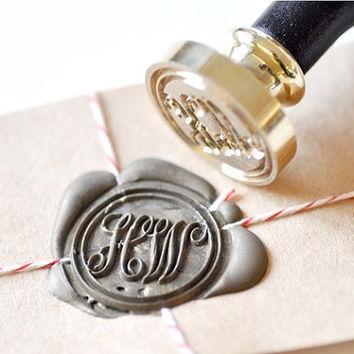 B20 Wax Seal Stamp Personalized Custom Double Initials Monogram