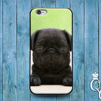 Black Pug Puppy Funny Cute Case Pup Cover iPod Touch iPhone 4 4s 5 5s 5c 6 Plus