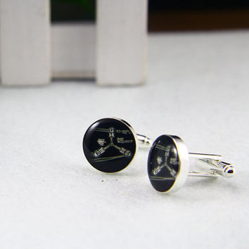 Physic  Cufflinks, Custom Photo/image /TEXT.Groomsmen, Father of the Bride/Groom Cufflinks