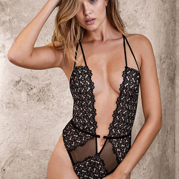 Strappy Plunge Teddy - Very Sexy - Victoria's Secret
