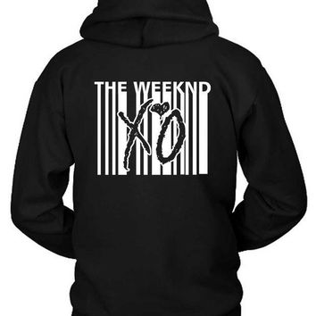 ESBH9S The Weeknd Xo Barcode Hoodie Two Sided