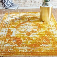 Brandt Yellow/Orange Area Rug