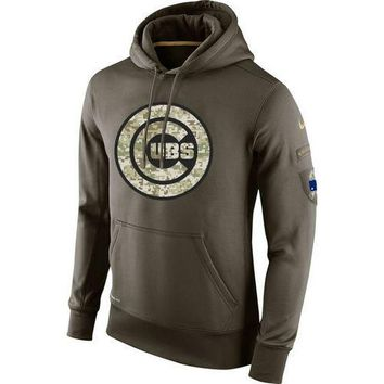 Chicago Cubs Nike MLB Salute To Service Pullover Hoodie