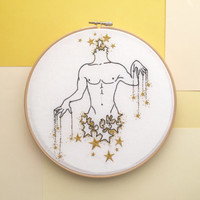 "Embroidery art ""Star-man"""