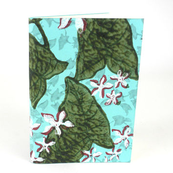 Blue Lily Soft Journal - Recycled Cotton Fabric pages