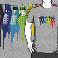 Dr. Who Dalek Chromatic Tshirt by J. William Grantham