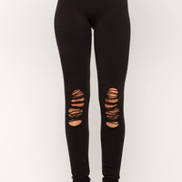 Distressed Knee Leggings
