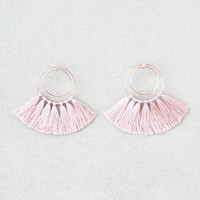 AEO Blush Tassel Hoop Earrings, Blush
