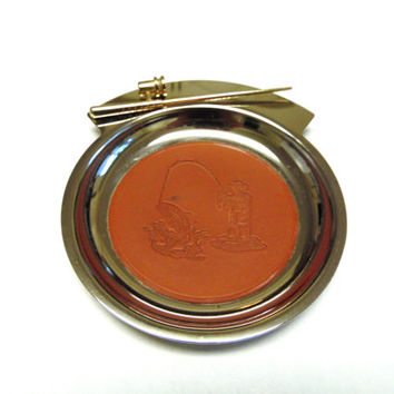 Fishing Pocket Change Tray Vintage Dish Fisherman Coin Toss Catchall