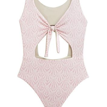 MAYLANA Paige Shell Rose One Piece