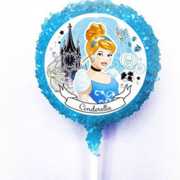 CINDERELLA Disney Princess White Chocolate Covered Oreo Cookie Pops