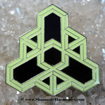 Impossible Geometry hat pin - Hexagon Crystallization - LSD- Sacred Geometry