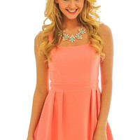 Star Of The Show Dress-Coral