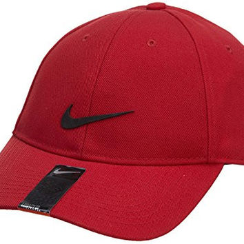 Nike Legacy Dri-Fit Adjustable Training Hat Cap-Red-One Size