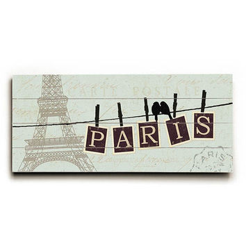 Migration Paris by Artist Alain Pelletier Wood Sign