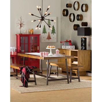 Hunter 3 PC Rustic Industrial Dining Table SET
