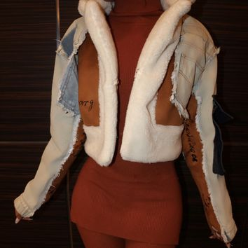 Luxe Denim Shearling