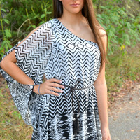 Take It To The Limit One Shoulder Tunic