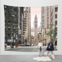 Before Sunset at downtown Toronto Wall Tapestry by Yang Z.   Society6
