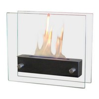 Nu-Flame Irradia Noir Table Top Ethanol Fireplace (NF-T2BIRA)