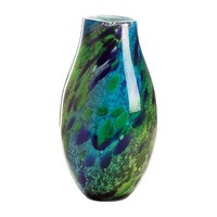 Dramatic Peacock Glass Vase