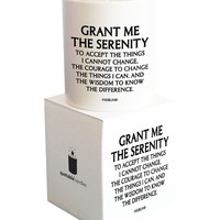 Quotable Cards - Grant Me The Serenity To Accept Things I Cannot Change - Candle with Gift Box