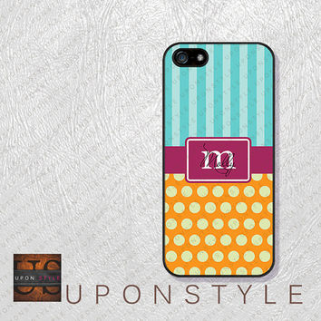 Phone Cases, iPhone 5S Case, iPhone 5 Case, iPhone 5C Case, iPhone 4 case, iPhone 4s case, Stripe Polka Dot, Case for iphone No-5D0012