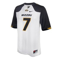 Mizzou Nike #7 White 2014 Football Jersey