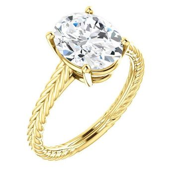 2.0 Ct Oval Diamond Engagement Ring 14k Yellow Gold
