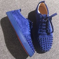 Christian Louboutin CL Low Style #2070 Sneakers Fashion Shoes Best Deal Online