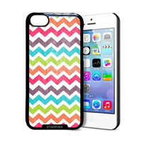 Shawnex Multi Grunge Chevron iPhone 5C Case - Thin Shell Plastic Protective Case iPhone 5C Case