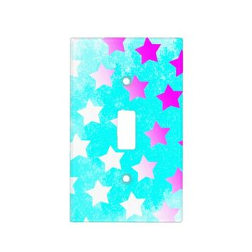 *Cute Pink Mirror Stars Collection Light Switch Covers