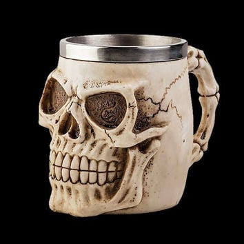 Stainless Steel Skull Mug For 3D Design