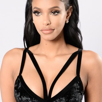 Velvety Smooth Bralette - Black