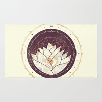 Lotus Area & Throw Rug by Hector Mansilla
