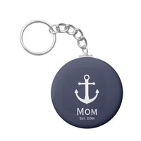 Nautical Mom Est. Keychain