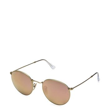 Ray-Ban Metal Round Sunglasses, , Bronze-Copper, Green Gradient, 50 Mm